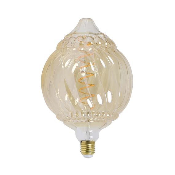 Deco LED globe Ø16x25 cm BAROQUE 4W amber E27 dimbaar