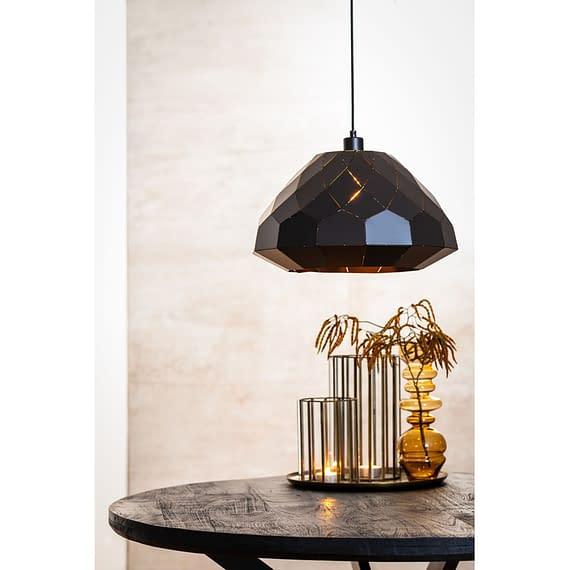 Hanglamp Hisse - Mat Zwart - Ø45x25 cm