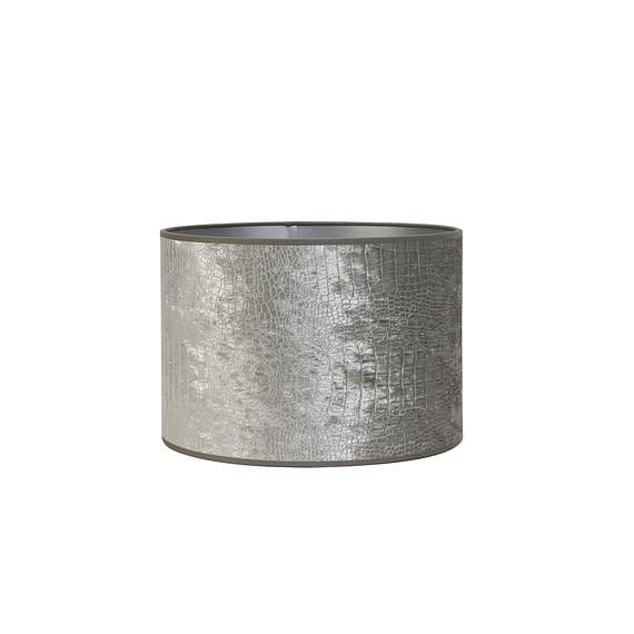 Lampenkap cilinder CHELSEA velours zilver