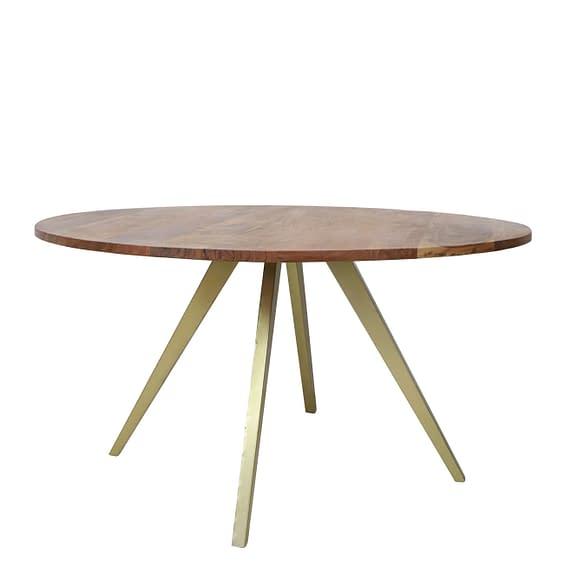 Light & Living Eettafel Mimoso - Acacia hout/Antiek Brons - 140x78 cm