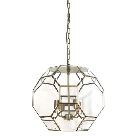 Hanglamp Ø50x53 cm LENNOX brons+glas