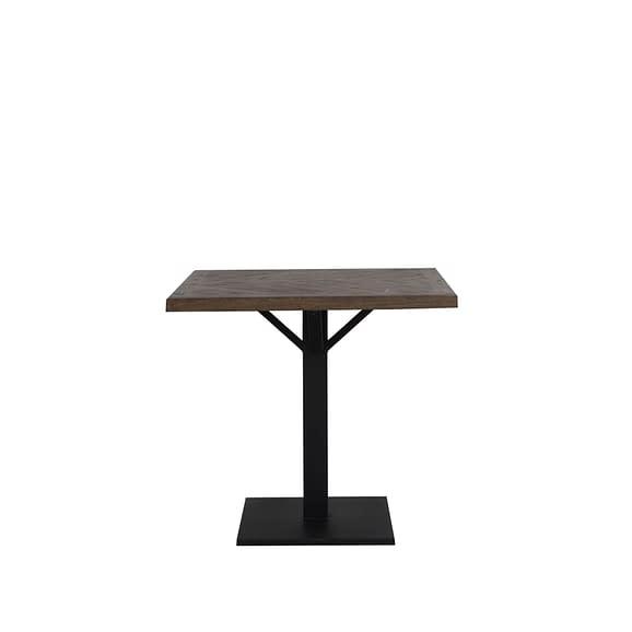 Eettafel 80x80x78 cm CHISA hout bruin-zwart