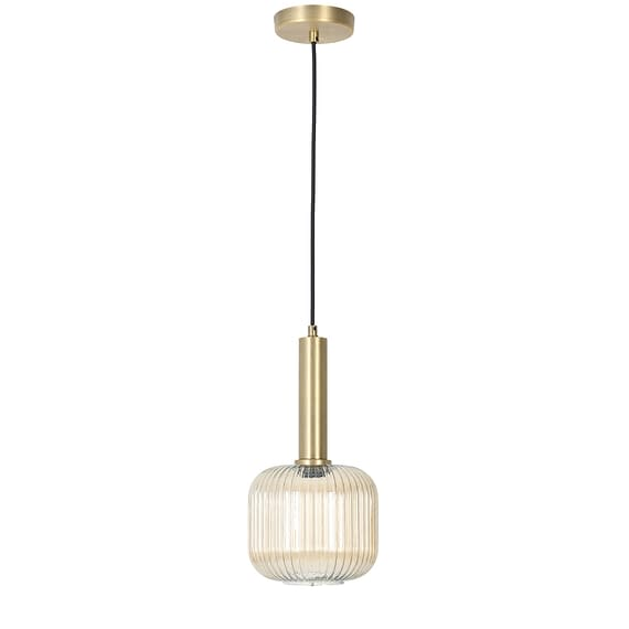 Glazen moderne hanglamp Linnea in goud