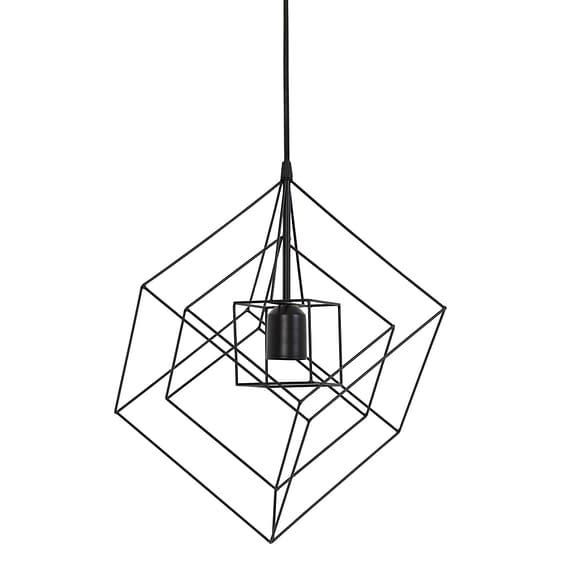Hanglamp 25x25x27 cm KUBINKA mat zwart
