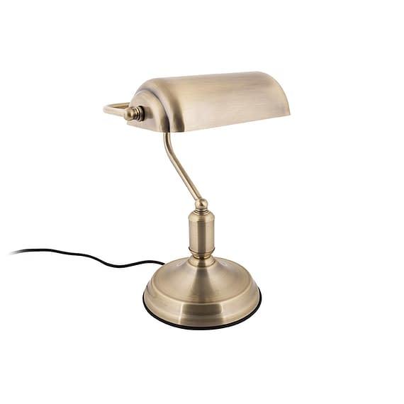 Leitmotiv - Tafellamp Bank - IJzer Antiek verguld - 34x26cm