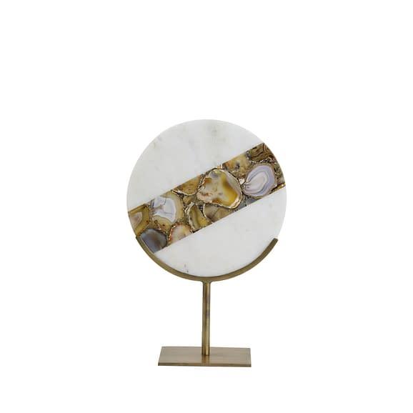 Ornament op voet 25x11x35 cm GOUYA marmer+antiek brons