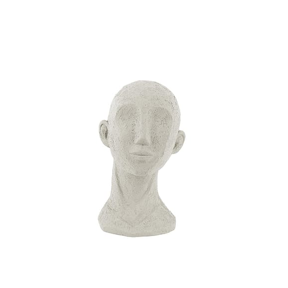 Wit Ornament Face Art - Polyresin Ivoor - 14