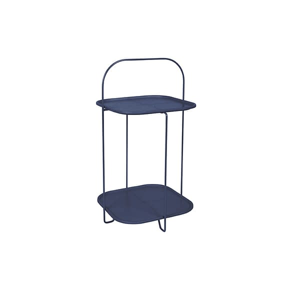 Blauw Side table Trays - Staal Donkerblauw - 70x39x39cm