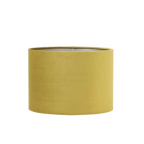 Cilinder Lampenkap Velours - Dusty Gold - Ø30 x 21 cm