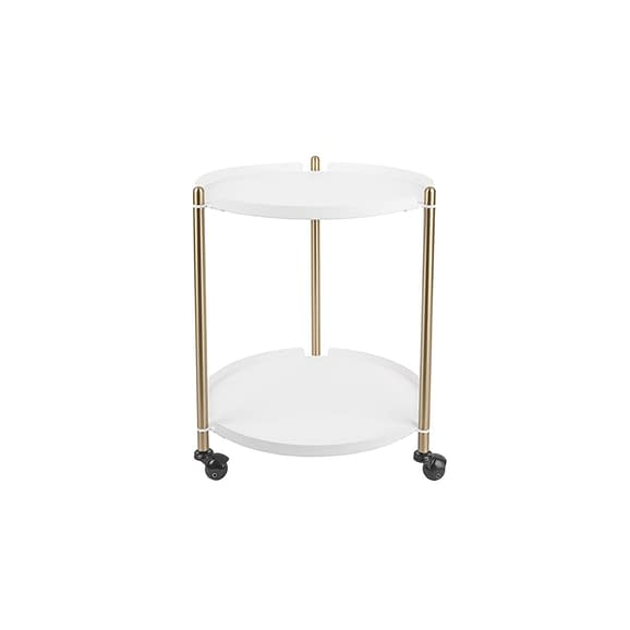 Wit Side table Thrill - Staal Goud