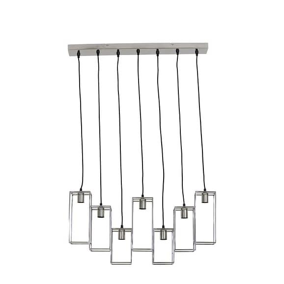 Hanglamp 7L 84x15x57 cm MARLEY nikkel