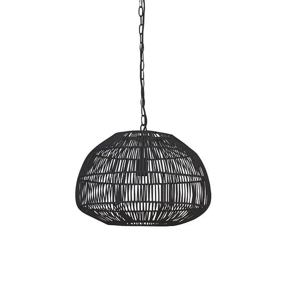 Hanglamp Ø45x37 cm TEMARI mat zwart