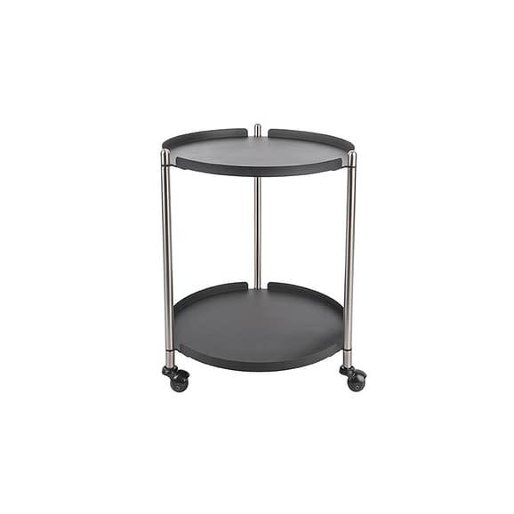 Zwart Side table Thrill - Staal Nikkel
