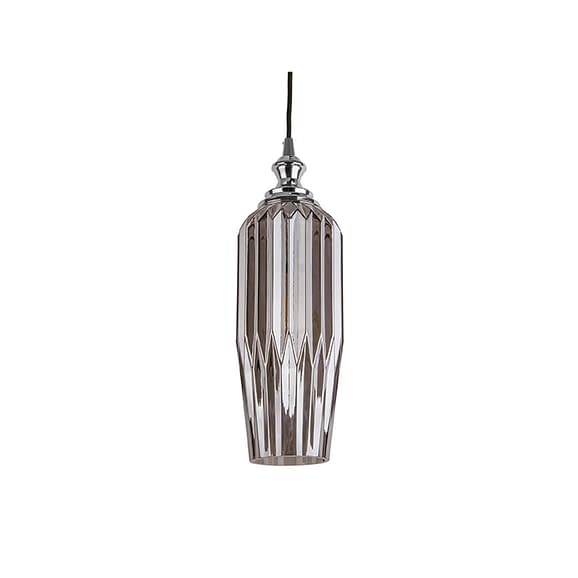 Grijs Hanglamp Posh - Lang Glas Smokey Grijs - 12