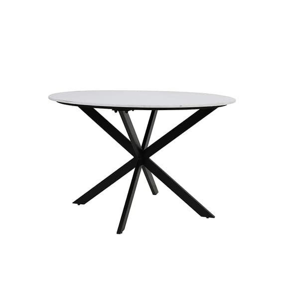 Light & Living - Ronde Eettafel Tomochi - Marmer Wit/Zwart - Ø120x78 cm