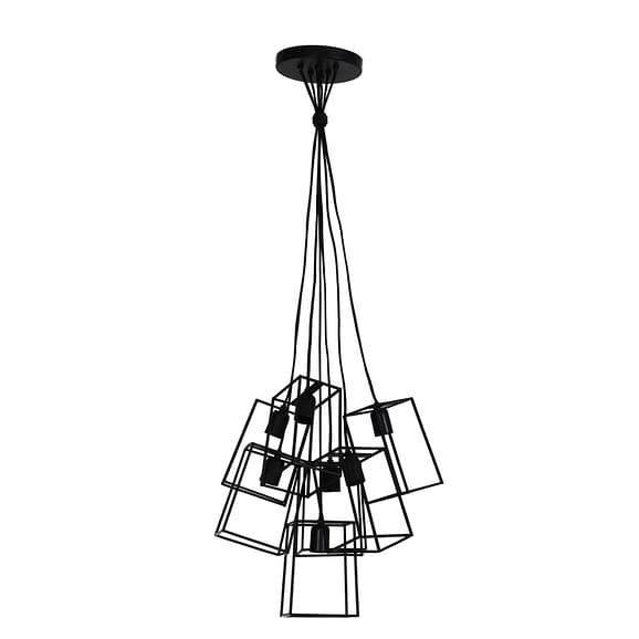 Hanglamp VANI - mat zwart 7L