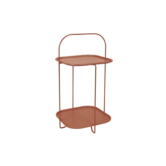 Bruin Side table Trays - Staal Kleibruin - 70x39x39cm