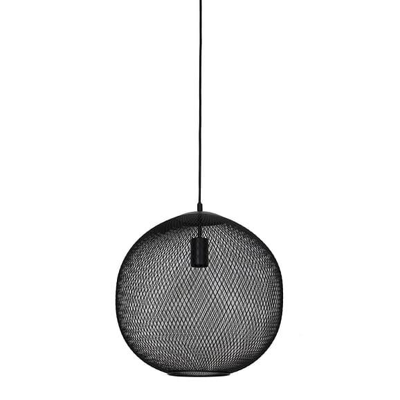 Hanglamp Ø40x39 cm REILLEY mat zwart