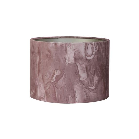 Kap cilinder 40-40-30 cm MARBLE roze