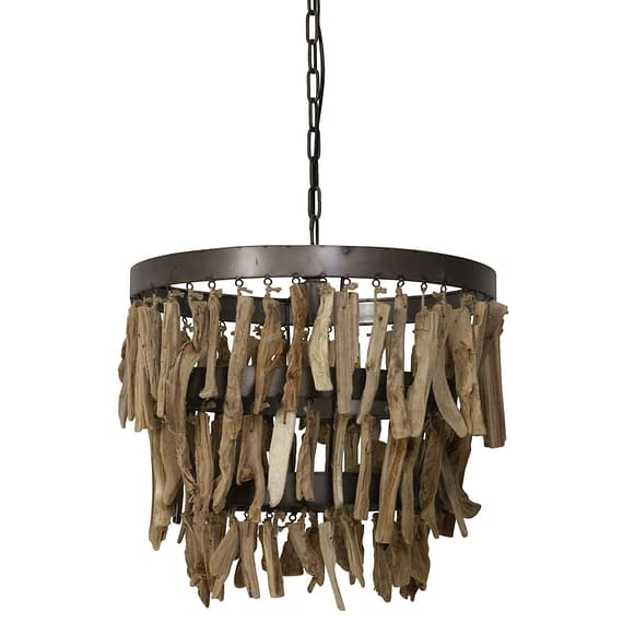 Hanglamp JALOE - Naturel Bruin