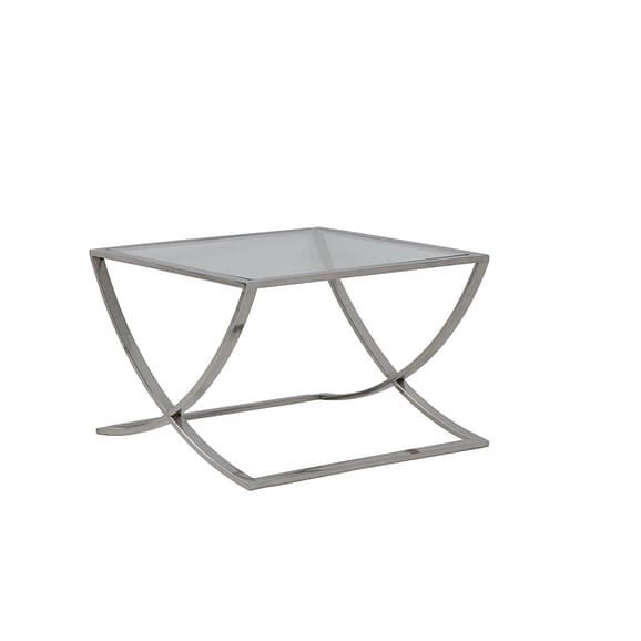Light & Living - Salontafel Molina - Glas/Nikkel - 60x60x40 cm