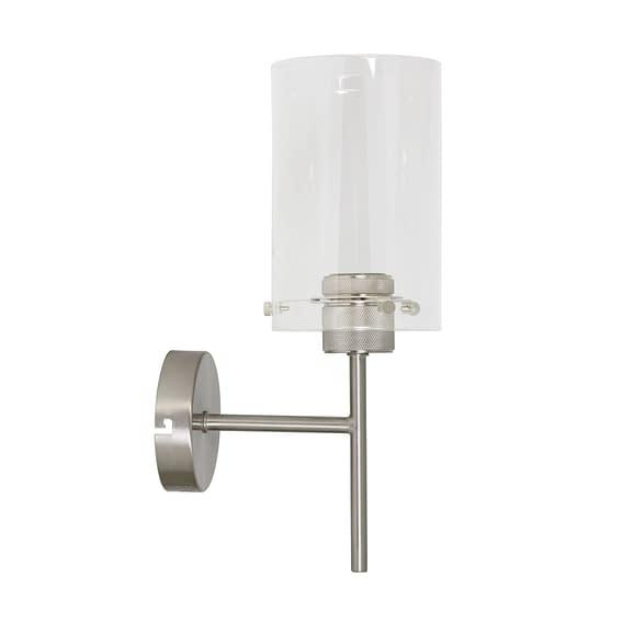 Wandlamp VANCOUVER - nikkel sat.-glas