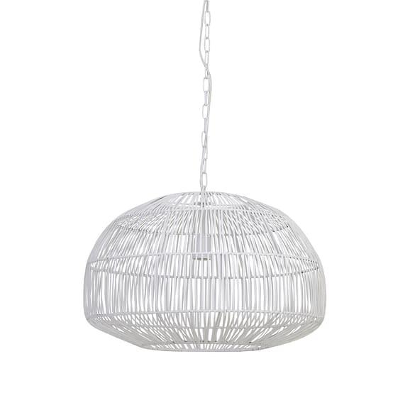 Hanglamp Ø57x40 cm TEMARI mat wit
