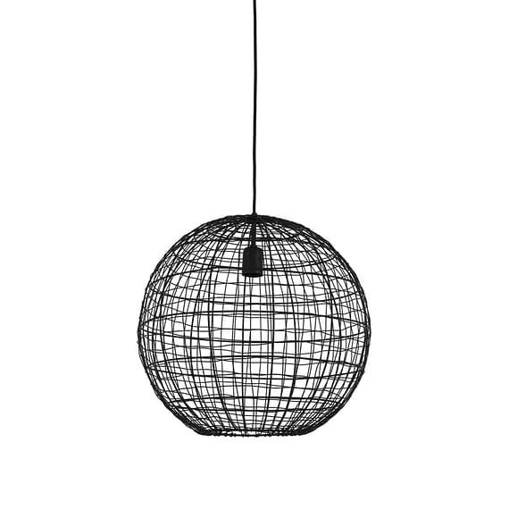 Hanglamp Mirana - Mat Zwart - Ø46 x 43 cm