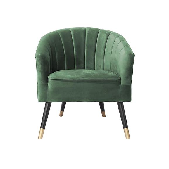 Leitmotiv - Stoel Royal - Velvet Donker Groen - 70x71x80cm
