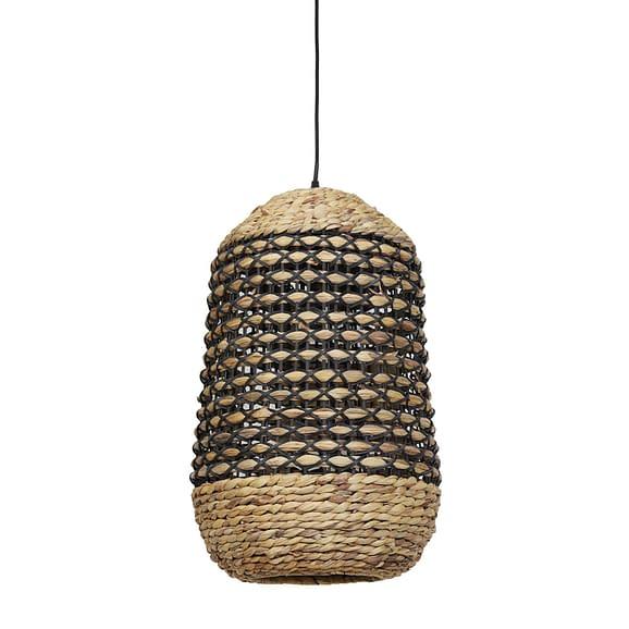 Hanglamp Tripoli - Rotan Naturel/Zwart - Ø37