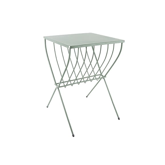 Groen Side table Cross - Staal Groen - 36x36x52cm