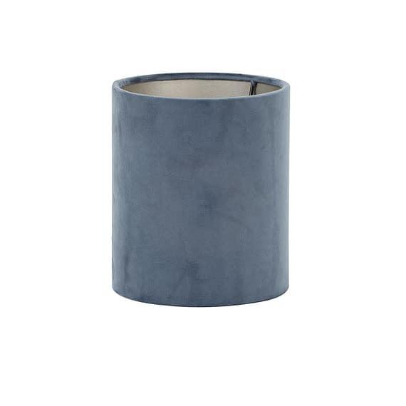 Light & Living Cilinder Lampenkap Velours - Dusty Blue - Ø17x23 cm