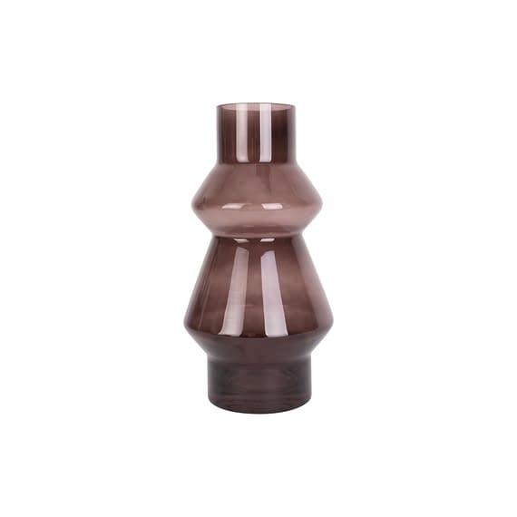 Bruin Vaas Blush - Glas Chocolade Bruin - Medium - 12
