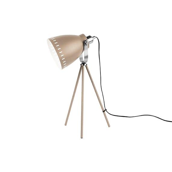 Bruin Tafellamp Mingle - 3 poten Metaal Zandbruin