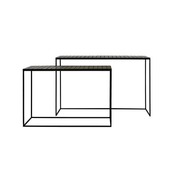 Light & Living Sidetable Manjuto - Licht Bruin - S/2 122x27x80 cm
