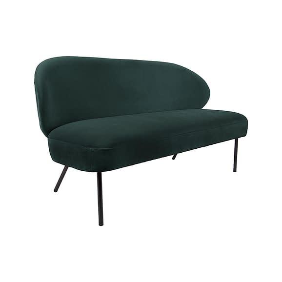 Groen Bank Puffed - Velvet Donker Groen - 143x65x74cm