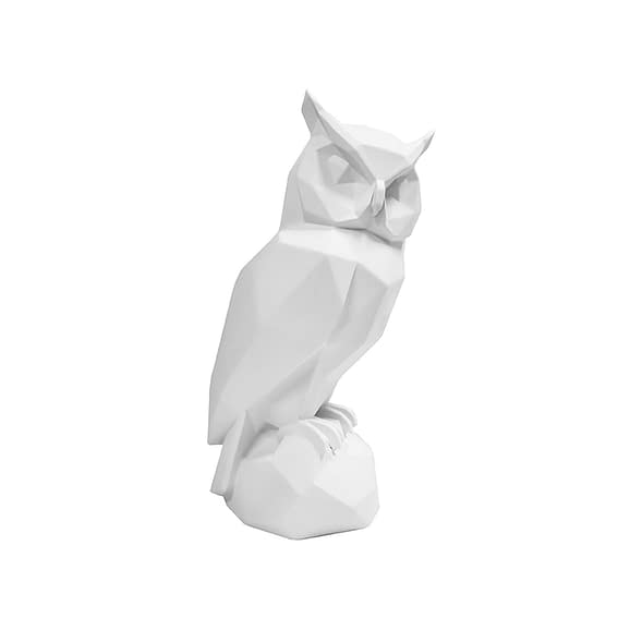 Wit Ornament Origami Owl - Polyresin Mat Wit - 32