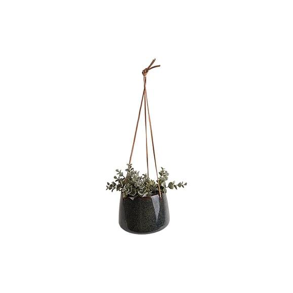 Groen Hangende plantenpot Unique - Glazuur Groen - Large - 17x13