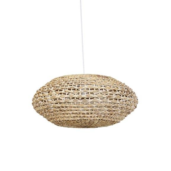 Hanglamp Tripoli - Rotan Naturel/Wit - Ø60 x 29