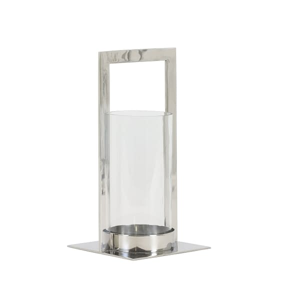 Light & Living Windlicht Jelco - Nikkel/Glas - 15x15x30 cm