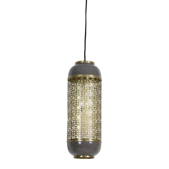 Hanglamp Rohit - Goud/Warm Grijs - Ø17 x 44 cm
