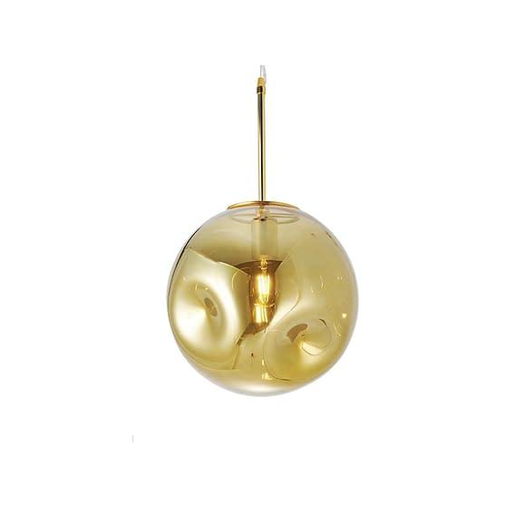 Bruin Hanglamp Blown Glass - Rond Messing - Ø30cm