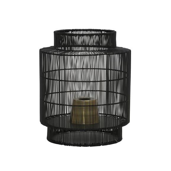 Tafellamp Ø31x36 cm GRUARO mat zwart-antiek brons