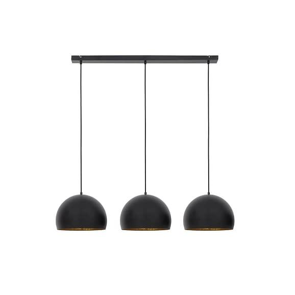 Light & Living - Hanglamp JAICEY - Mat Zwart-Goud - 3-Lichtpunten - 2908812