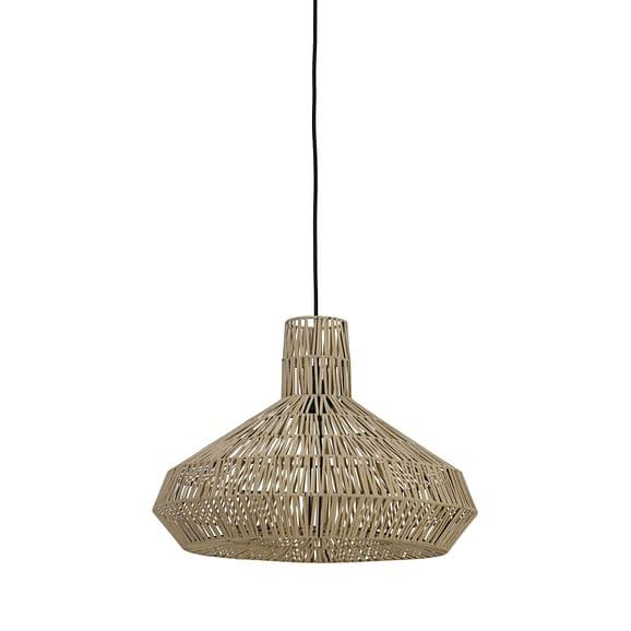 Hanglamp Ø49x35 cm MASEY leer naturel
