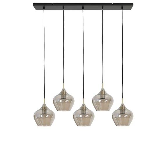Hanglamp Rakel - Antiek Brons/Smoke - 5L