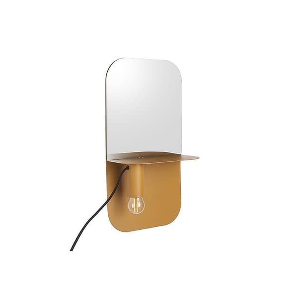 Geel Wand lamp Plate - IJzer Mat Okergeel - 45x24x12cm