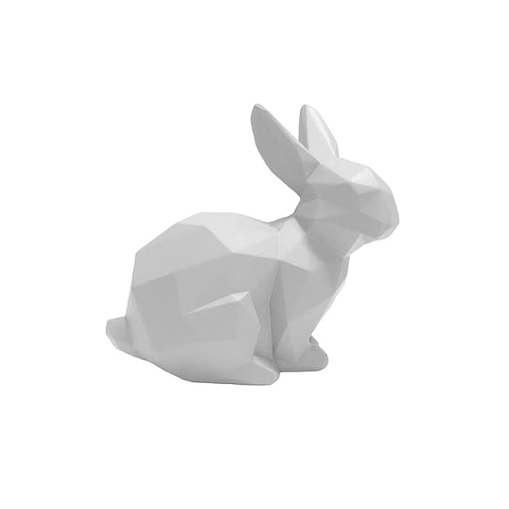Wit Ornament Origami Bunny - Sitting polyresin Mat Wit - 17