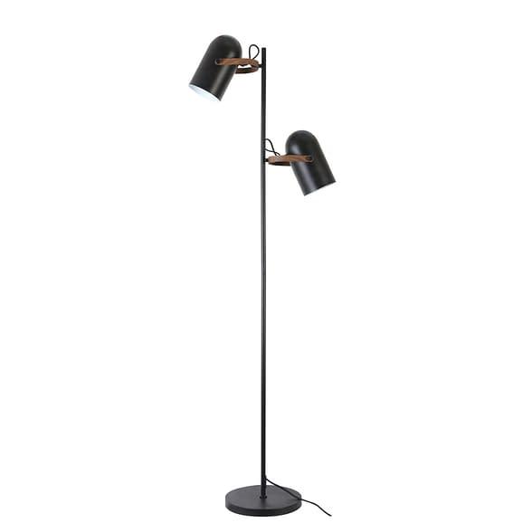 Vloerlamp Wester - Mat Zwart - 2L - 60x25