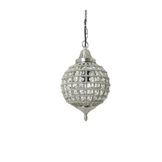 Light & Living Hanglamp Cheyenne - Nikkel-Kristal - Ø20x38 cm